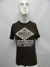 Old Navy Men's Brown Los Angeles Steel Workers S/S T-Shirt Shirt S M L XL XXL