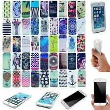 For Apple iPhone Patterned Skid Protective Soft Silicone Gel TPU Skin Case Cover