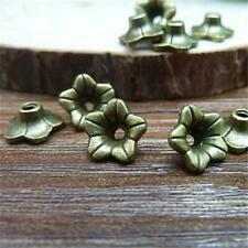 30/100pcs Fashion Flower Cap Charm Bead Caps Antique Silver/Bronze Jewelry P645