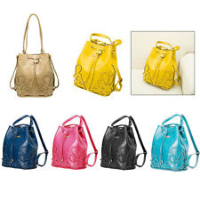 Lady Handbag Bucket Cross body Shoulder Messenger Backpack Bucket Drawstring Bag
