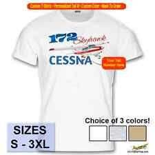 Cessna 172 Skyhawk Custom Airplane T-Shirt - Personalized with Your N# - Red#1