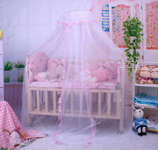 Baby Nursery Bed Canopy Mosquito Net Toddler Crib Netting Round Lace 170x420cm
