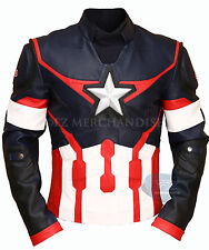 Age of Ultron Captain America Chris Evans Avengers Biker Rider Leather Jacket