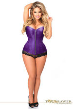 Daisy Corsets Top Drawer Purple Brocade Steel Boned Sexy Lingerie Corset Bustier