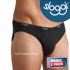 Sloggi Briefs Basic Mini Black Mens 2 Pack Sizes XS,S,M,L,XL,XXL