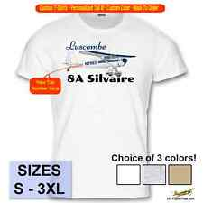 Luscombe 8A Silvaire Custom Airplane T-Shirt - Personalized with Your N# - Blue