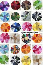 26 Dresden Plate Shape PATCHWORK CHARM Packs Bundle 100% COTTON Quilting Fabric