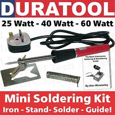 25W, 40W or 60W Mini Soldering Iron Kit Set Tool Stand Lead Free Solder Wire