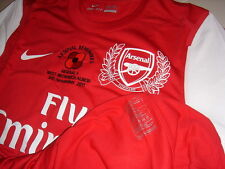 Arsenal NIKE 2011-12 EPL Remembrance (vs West Bromwich) S/S Player-issue Shirt