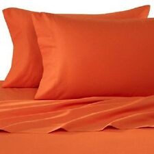 ORANGE SOLID FITTED/SHEET/DUVET SET/SKIRT 1000TC 100%COTTON CHOOSE ITEMS & SIZE