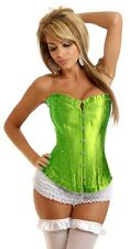 Daisy Corsets Lime Strapless Rhinestone Corset Sexy Lingerie Bustier