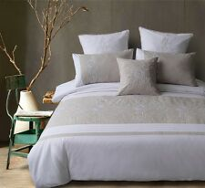 Arianna White Linen 225TC Quilt Doona Cover Set Double Queen King Euro Cushion