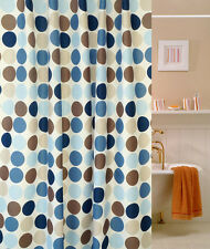 """71"""" Waterproof Polyester Bath Shower Curtain Round Circle Hooks Hotel Home Decor"""