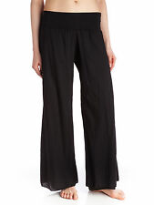 T-PARTY Black Voil Wide Leg Fold Over Pant, Sz S/M/L NWT