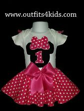 Minnie mouse Birthday outfit  and a circle skirt set 12M, 18M, 24M & 3T