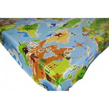 Childrens Novelty PVC Fabric WIPE CLEAN Tablecloth Oilcloth Many Designs
