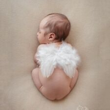 Cute 0-12M Newborn Infant Baby Angel Feather Wings Halo Photo Props Costume L22