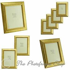 "Antique Vintage Gold Real Wood photo frames for 6""x4"" - 12""x10""  Pictures"