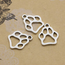 New 12/50Pcs Tibet Silver Lovely Hollow out Bear's paw Charms Pendants 19x17mm