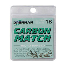 Drennan Carbon Match Spade End Micro Barbed Hooks Various Sizes