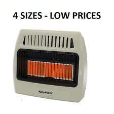 4 SIZES - Kozy World Natural Gas Vent Free Wall Heater,  Variable Heat Control