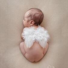 Hot 0-12M Newborn Infant Baby Angel Feather Wings Halo Photo Props Costume D65