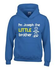 Personalised I'm The Little Brother Boys Hoodie 3-14 Yrs Funny Custom Present