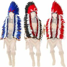 Non-Native Feather Headdress With Trailer Costume Accessory