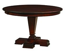 """Amish 54"""" Fulton Round Pedestal Dining Table Solid Wood Traditional Furniture"""