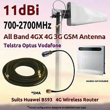 11dBi 4G 3G Multi Band Antenna for Optus Huawei B593 4G WiFi Router Coax FME SMA