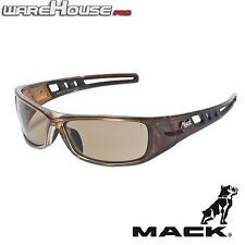 Brand New MACK LONGHAUL BROWN POLARIZED SAFETY / SUN GLASSES- 1,3 or 8 Pack