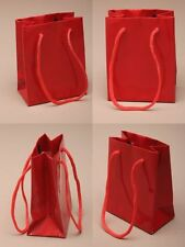 Wholesale Gift Bag with Cord Handle in Packs of 12 - Red Gift Favour Bags