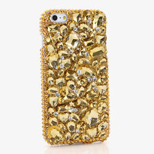 iPhone 6 6S / 6S Plus 5S Bling Crystals Case Cover Golden Diamonds 3D Faceplate
