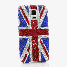 FOR SAMSUNG GALAXY S6 NOTE 5 CRYSTALS BLING CASE COVER RED BLUE BRITISH FLAG