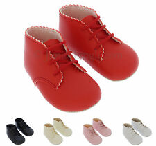 BABY GIRL SHOES | Soft Sole First PRAM SHOES | Black Cream Pink Red White | B620