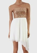 ASOS Sequin Bandeau Dress with Chiffon Skirt