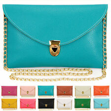 Women's Lady Envelope Clutch Chain Shoulder Wristlet Bag Purse Handbag Tote