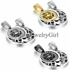 Moon Hug Sun Couple Pendant I Love You Stainless Steel His and Hers Set Necklace
