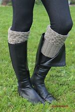 HANDKNIT boot cuffs, boot toppers, cable leg warmers 100%wool, from EUROPE