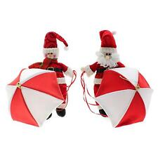 Christmas Ornament New Year Snowman Santa Parachute Hanging Doll Decor Supplies