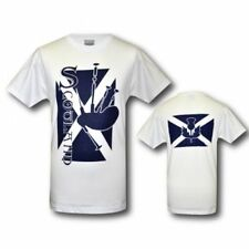 SCOTTISH BAGPIPE ST ANDREWS CROSS THISTLE T SHIRT SCOTLAND TEE GUINNESS JERSEY