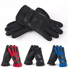 Mens Gloves Leather Winter Models Plus Thick Velvet Warm Driving Gloves Mittens