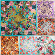 "New Women Silk Big Satin Square Large Scarf Bandana Wrap Printing shawl 35""X35"""