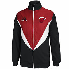 NEW W/TAGS ADIDAS NBA MIAMI HEAT RESONATE RED/BLACK JACKET MENS Sz's + FREE GIFT