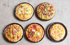 Plate miniature mini pizza pie showcase or house doll / Dish choice