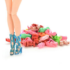 15/30/60 Pairs Colorful Assorted Shoes for Barbie Doll with Different  CTO35