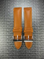 23mm LONGINES Light Brown Genuine CALF LEATHER STRAP Tan 23 Watch Band