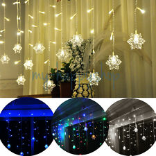 3M x 1M 150 LED Indoor/Outdoor Christmas String Fairy Curtain Lights Snowflake