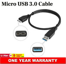 2x Micro USB 3.0 Data Sync Charger Cable Cord For Samsung Galaxy Note 3 S5 21cm