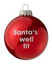 New Xmas Novelty Christmas Tree Decoration Bauble With Santas Well Fit Message